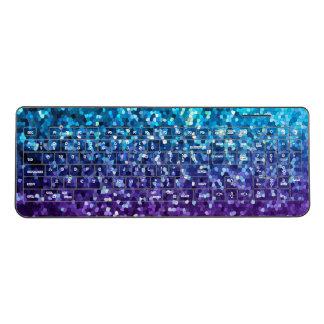 Wireless Keyboard Mosaic Sparkley Texture