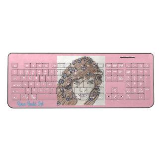 wireless keyboard pink