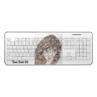 wireless keyboard white