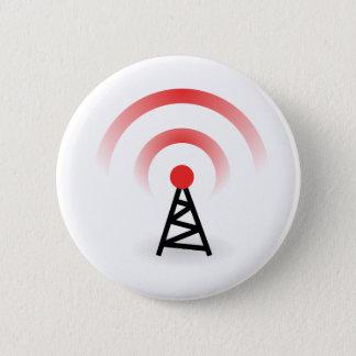 Wireless Network 2 Inch Round Button