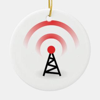 Wireless Network Ceramic Ornament