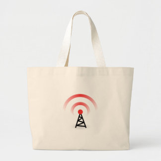 Wireless Network Large Tote Bag