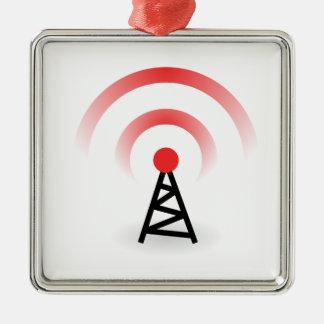 Wireless Network Metal Ornament