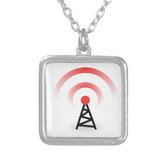 Wireless Network Silver Plated Necklace