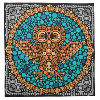 Wireless Owl Color Perception Test Black Napkins
