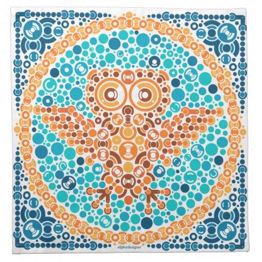 Wireless Owl, Color Perception Test, White Cloth Napkins