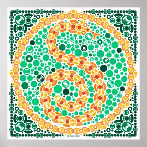 Wireless Python, Color Perception Test, White Print