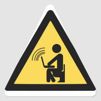 Wireless wifi hotspot! triangle sticker