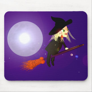 Wireless Witch Mouse Pad