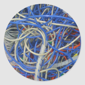 Wires Classic Round Sticker