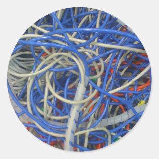 Wires Round Sticker