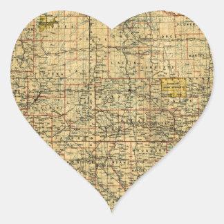 Wisconsin 1896 heart sticker