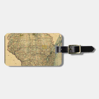 Wisconsin 1896 luggage tag