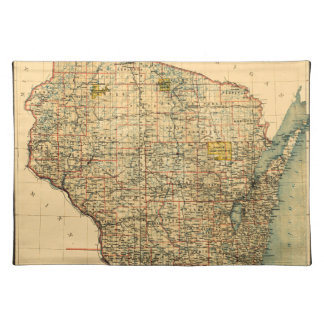 Wisconsin 1896 placemat