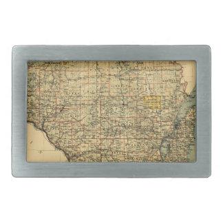 Wisconsin 1896 rectangular belt buckle