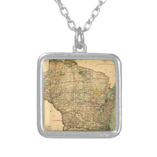 Wisconsin 1896 silver plated necklace