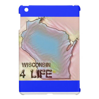 """Wisconsin 4 Life"" State Map Pride Design iPad Mini Cases"