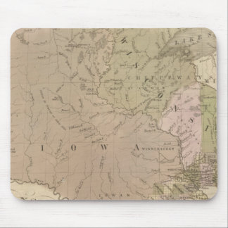 Wisconsin and Iowa Mouse Pad