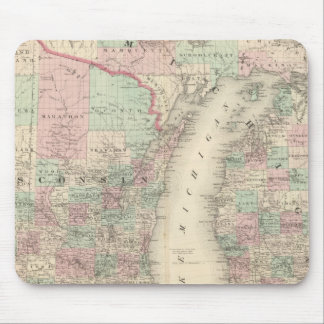 Wisconsin and Michigan Mouse Pad