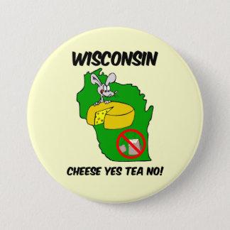 Wisconsin anti tea party 3 inch round button