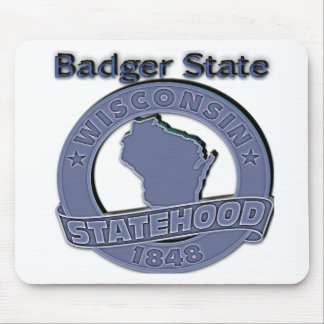 Wisconsin Badger Statehood Mouse Pad