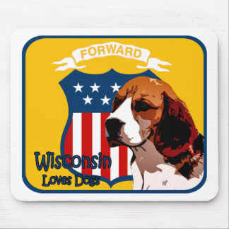 Wisconsin Beagle Mouse Pad