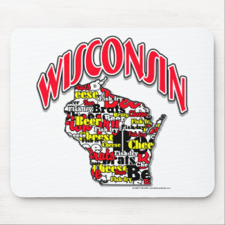 Wisconsin Beer Brats Cheese Fish-Fry Mouse Pad