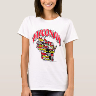 Wisconsin Beer Brats Cheese Fish-Fry T-Shirt