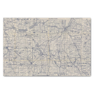 Wisconsin Bicycle Road Map 4 Tissue Paper