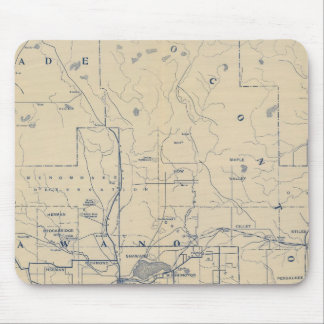 Wisconsin Bicycle Road Map 5 Mouse Pad