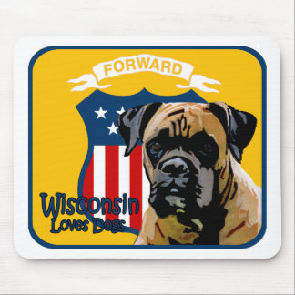 Wisconsin Boxer Mousepad