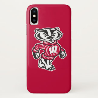 Wisconsin   Bucky Badger Mascot iPhone X Case