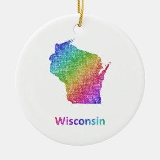 Wisconsin Ceramic Ornament