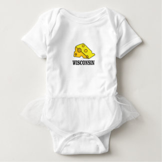 Wisconsin cheese head baby bodysuit