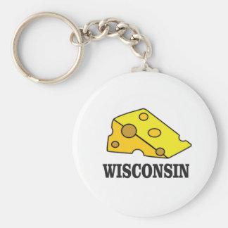 Wisconsin cheese head keychain