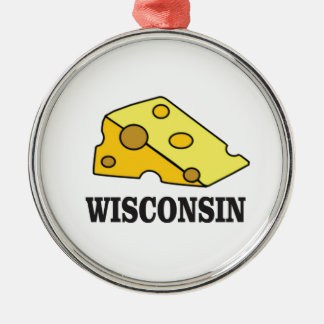 Wisconsin cheese head metal ornament