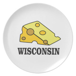 Wisconsin cheese head plate