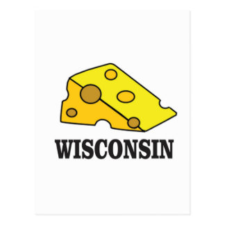Wisconsin cheese head postcard