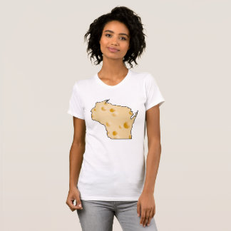 Wisconsin Cheese Head State Outline Shirt Black