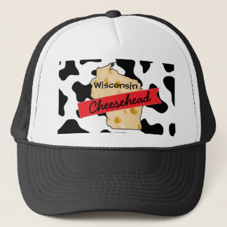 Wisconsin Cheesehead Cow Pattern Hat