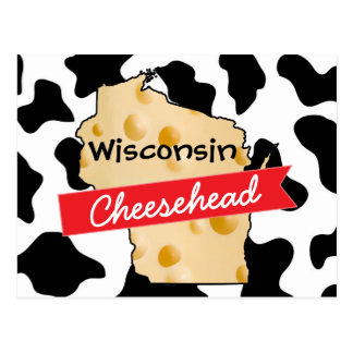 Wisconsin Cheesehead Cow Pattern Postcard