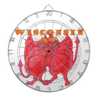 Wisconsin Cheesehead Demons Dartboard