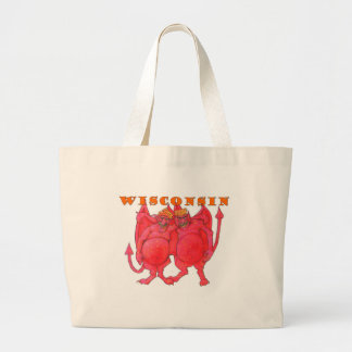 Wisconsin Cheesehead Demons Large Tote Bag
