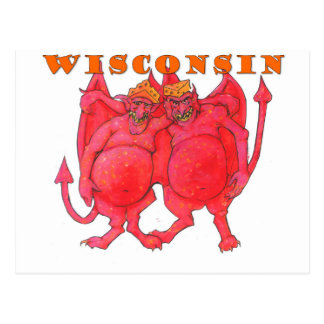 Wisconsin Cheesehead Demons Postcard