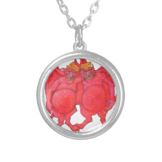 Wisconsin Cheesehead Demons Silver Plated Necklace
