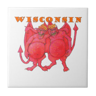 Wisconsin Cheesehead Demons Tile