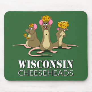 Wisconsin Cheesehead Mice Mouse Pad