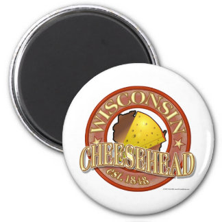 Wisconsin Cheesehead Seal 2 Inch Round Magnet