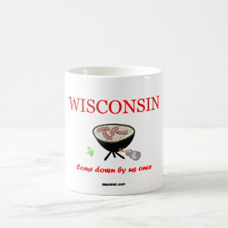 Wisconsin - Come down by us once - coffee mug