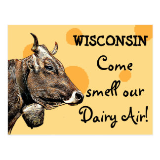 Wisconsin Come Smell our Dairy Air Humor Postcard